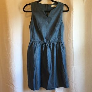 Denim Cutout Back Dress